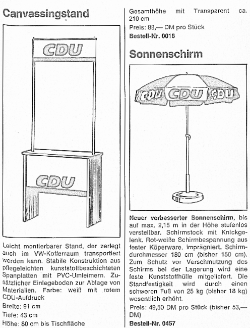 CDU-Canvassingstand