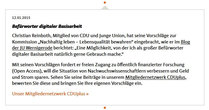 CDU-Basisarbeit